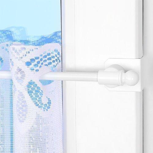 Gardinenstange Globe Fix-Klick 55-80cm ausziehbar Weiß Universal