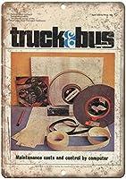 トラック&バス輸送雑誌ヴィンテージティンサイン装飾ヴィンテージ壁金属プラークカフェバー映画ギフト結婚式誕生日警告用レトロ鉄絵