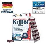 ForteVital Aceite de Krill 500 MG - (dosis Alta) Premium con Omega 3 / Omega 6 / Omega 9/60 cápsulas (Aceite de Krill) con 300 μg de astaxantina por dosis Diaria
