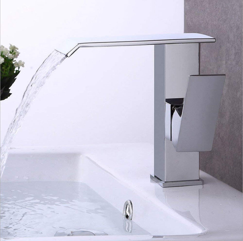 GONGFF Waschtischarmaturen Wasserhahn Europischen Kupfer Wasserfall Wasserhahn heien und kalten Waschtischarmatur Vintage Waschtischarmatur Mischbatterie Waschtischmischer 1-teilig