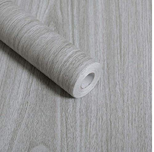 Gray Wood Grain Contact Paper Self Adhesive Shelf Liner Drawer Self Adhesive Shelf Liner Kitchen Cabinets Shelves Door Sticker 177 Inch by 78 Inch