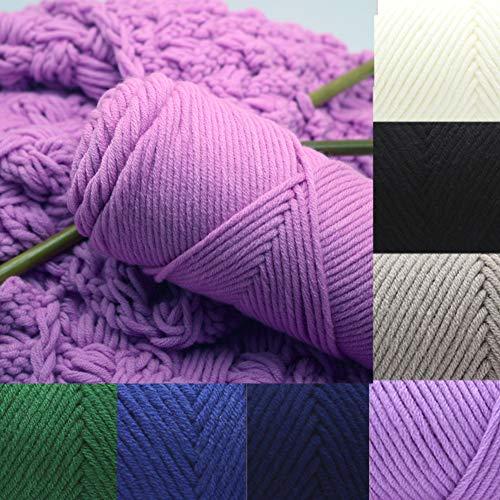 Steellwingsf Wollgarn Hut Schal Kleidung Strickfaden, 100g DIY Home Bunte Wollgarn Weiche Baumwolle Strickwaren Handstricken Häkeln Blau