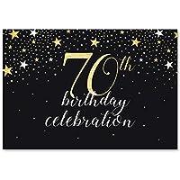 70歳の誕生日写真ブースパーティー背景幕(5×7フィート)