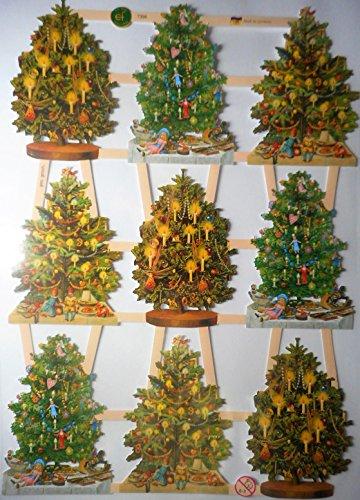 Glanzbilder Weihnachten Weihnachtsmann Baum EF 7396 Oblate Posiebilder Scrapbook Deko GWI 444