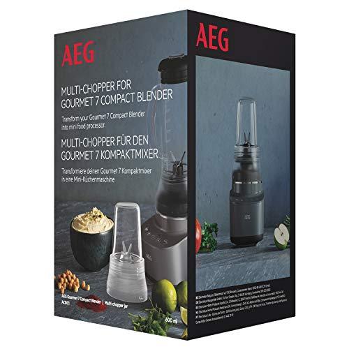 AEG ACBC1 Mini-picadora multiusos, para picar o triturar, compatible con la batidora de vaso Gourmet 7 Compact, Vidrio