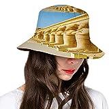 FULIYA Sombrero de cubo de poliéster, Tanah Lot Building Bali Island Ondulado Océano Histórico Arquitectura Patrimonio Imagen
