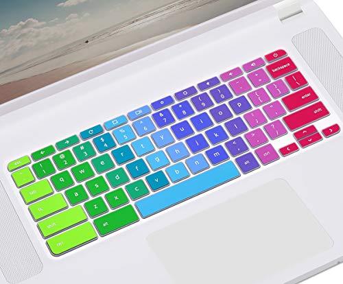 CASEDAO Keyboard Cover for Acer Chromebook 15 CB3-531 CB3-532 | Chromebook Spin 11 CP311 C738T CB3-131 CB3-132 11.6 | Chromebook R 11 CB3-131 132T CB5-132T | Chromebook 14 - Rainbow