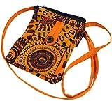 Guru-Shop Brustbeutel, Geldbörse - Orange, Herren/Damen, Baumwolle, Size:One Size, 17x13 cm,...