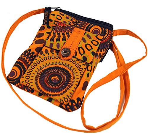 Guru-Shop Brustbeutel, Geldbörse - Orange, Herren/Damen, Baumwolle, Size:One Size, 17x13 cm, Portemonnaies aus Stoff