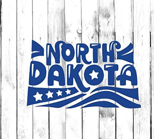 H421ld Calcomanía North Dakota – Yeti, vaso, botella de agua, coche, portátil, camión, teléfono, computadora, etiqueta para el hogar