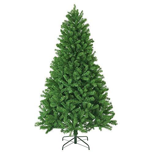 KENSWINO Weihnachtsbaum künstlich, künstlicher Baum, mit Schnellaufbau klappbares Regenschirmsystem, Tannenbaum künstlich 225cm ca.1200 Spitzen, unechter Tannenbaum inkl. Metall Christbaum Ständer