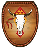 Toilet Tattoos, Toilet Seat Cover Decal,Southwest Cow Skull Size Elongated