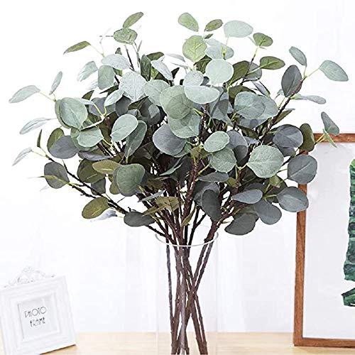 SHACOS 4 Stück Künstliche Eukalyptuszweige Grün Eukalyptusblätter Künstlich 65cm Hoch Eukalyptus Zweige Deko für Party Fest Hochzeit usw.