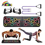 Yoophane 13 in 1 Muscle Board with Resistance Bands, Multifunction Home Workout Push Up Board, Gym Equipment Press Up Board for Men and Women