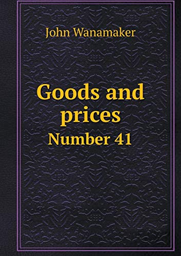 Goods and Prices Number 41