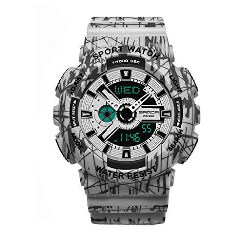 Lvmiao Relojes de Moda para Adolescentes, Relojes Deportivos Impermeables Luminosos, Relojes electrónicos de Pareja, Conjuntos de Relojes Reloj de Relojes de Relojes de Hombre,Woman 2