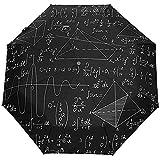 Paraguas Plegable automático Matemáticas Pizarra Protección UV Auto Abierto Plegable Bloqueo Solar