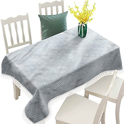 Hiiiman Celtic Decorative Lace Table Cloths Rectangle, Retro Tribal Celtic Knot Table Cloth Dinning Table Cover, Oblong 60x84 Inch, for Outdoor Farmhouse Rustic Kitchen Party Birthday Picnic