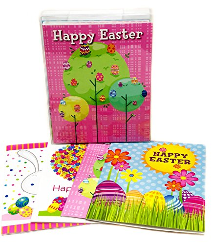 Easter Greeting Card Assortment Pack - 16 Boxed Easter Cards