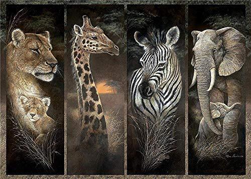 JGDYMX Juguetes - puzzle madera puzzles para adultos Rompecabezas puzzle DIY Juguetes - Cuatro animales salvajes - Regalo -50 * 75cm-1000 Piezas