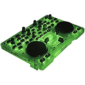 Hercules DJ Control Glow - Consola DJ con 2 ruedas Jog y effectos de luz, Verde/Negro: Hercules: Amazon.es: Instrumentos musicales