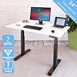 Seville Classics AIRLIFT Pro S3 54' Solid-Top Commercial-Grade Electric Adjustable Standing Desk (51.4' Max Height) Table, Black/White