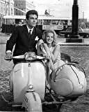 Ann-Margret and Andre Lawrence in The Pleasure Seekers in Vespa scooter and sidecar 8x10 Aluminum Wall Art