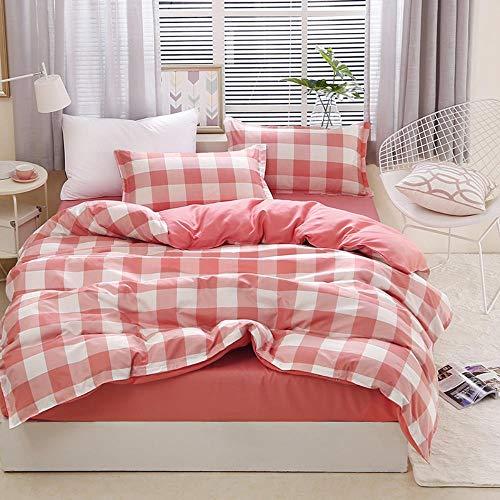 Miwaimao Ropa de cama de tres piezas de algodón cepillado y lino Aloe Persona Dormitorio Dormitorio, Yuet Yan,Cama de 2,2 m