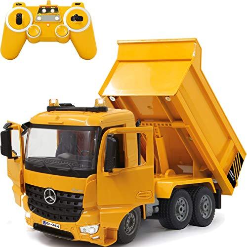 Baustellenfahrzeug ferngesteuert OFFIZIELL LIZENZIERT RC 1:20 (2.4 GHz) Spielzeug Modell Fahrzeug (Mercedes Benz Muldenkipper)