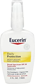 Eucerin - Daily Protection Moisturizing Face Lotion Fragrance Free 30 SPF - 4 Oz. (Pack of 2)