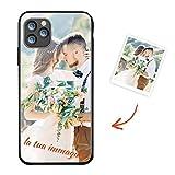 Suhctup Custodia Personalizzata per iPhone 12 Pro Max 6.7', Foto, Immagini o Testo Stampa Personalizzabili Cover in Vetro, Glass Duro con Cornice in TPU Personalizzare Protettiva Case