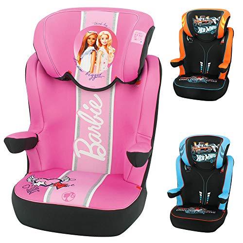 Nania 839324 - Silla de coche para Bebe elevador RWAY grupo 2/3 (15-36kg) - con proteccion lateral -Barbie, unisex, color barbie