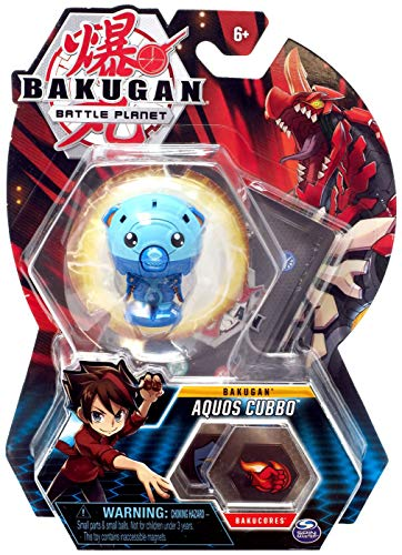 Bakugan, Aquos Cubbo, 2' Tall Collectible Transforming Creature, for Ages 6 & Up, Multicolor