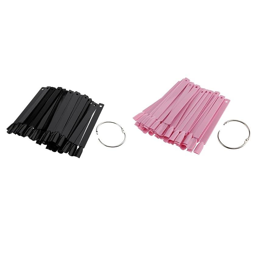 自伝ハーブ防止Perfk 約100個 人工爪 ヒント ネイルアートチップ カラープレート ネイルサロン プロ 個人用