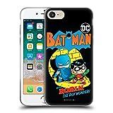 Head Case Designs Oficial Super Friends DC Comics Batman and Robin Toddlers Comic Covers Carcasa de Gel de Silicona Compatible con Apple iPhone 7 / iPhone 8 / iPhone SE 2020