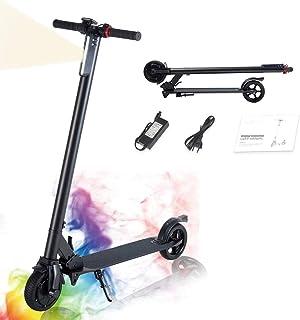 Magic Vida - Patinete eléctrico plegable, color negro, 8 pulgadas, 350 W, 6,0 Ah, velocidad máxima de 25 km/h, LED, para adultos y niños