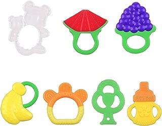 歯固めセット 歯がためおもちゃ 噛むおもちゃ 乳歯の成長をサポート 赤ちゃん用 おもちゃ おしゃぶり 野菜 果物 くま 新生児 出産お祝い 赤ちゃん プレゼント7点セッ