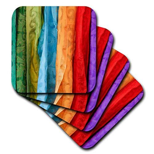 3dRose Danita Delimont – Textiles – Santa Fe, Nouveau-Mexique, États-Unis. du marché de l'art Populaire. Uzbeki Textiles. – Dessous de Verre, Céramique, set-of-4-Ceramic