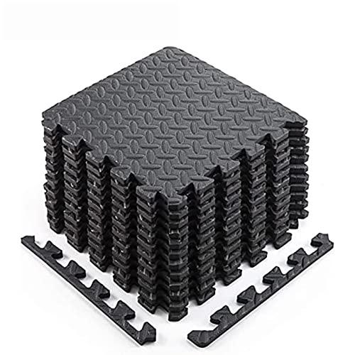 QIANDENG Esterilla Puzzle para Suelo de Gimnasio y Fitness 60x60cm Esterilla Protectora para Aparatos de Fitness para Suelos de Gimnasios, Cocinas o Garajes(Size:6 Slices)