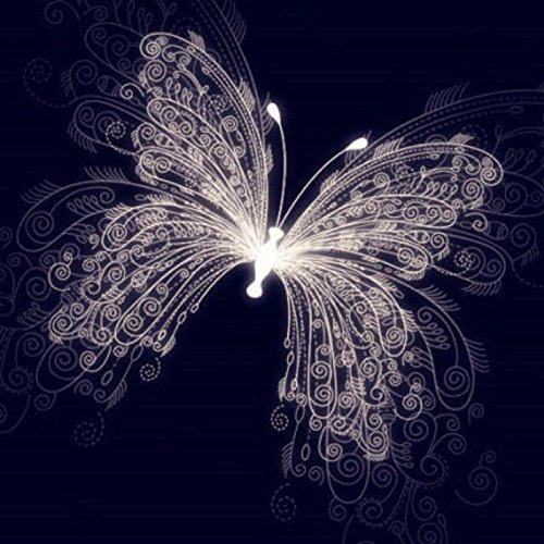 Yeesam Art - Cuadro para rellenar con piedras brillantes, mariposa de ensueño,...