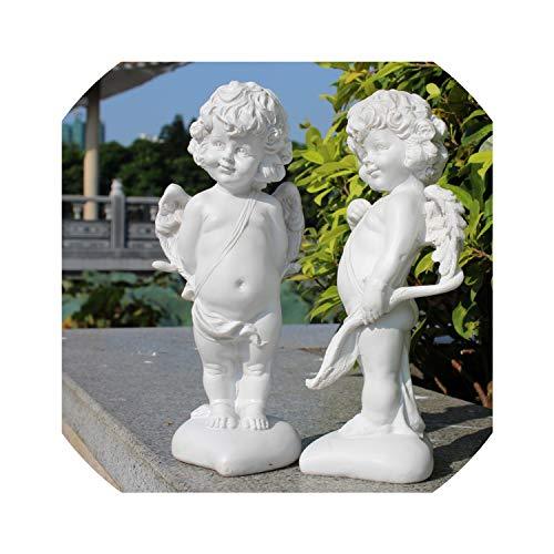 Handmade Resin Angel Figurines Home Furnishing Decoration Crafts Birthday Wedding Gifts Lucky Ornament Home Statue Arts,20-2PCS