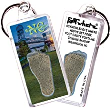 product image for Wilmington, NC FootWhere Souvenir Keychain. Made in USA (WLM102 - CF Bridge)