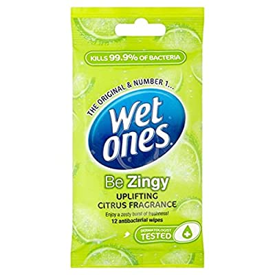 Wet Ones Cleansing Anti Bacterial Wipes 12 per pack from Wet Ones