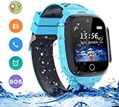 LDB Direct Kids Smartwatches Waterproof, GPS/LPS Tracker Phone SOS Two-Way Call Touch Screen Voice Chat Game Smartwatch for 3-12 Year Old Boys Girls Birthday Gift (Blue)