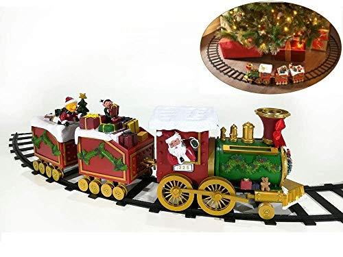 GT Trenino Natalizio Musicale Treno Sotto Albero Di Natale Ø Cm 137 Santa Claus Express