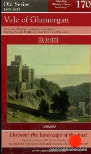 Cassini Historical Map : Old Series 1809-1833 No.170 : Vale of Glamorgan...