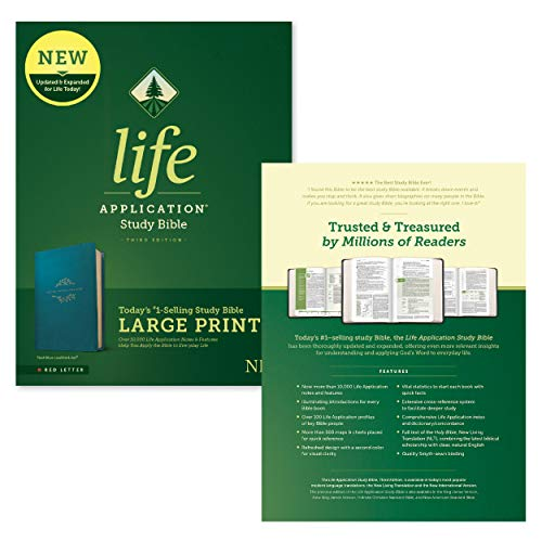 『Life Application Study Bible: New Living Translation, Teal Blue, Leatherlike, Red Letter』の10枚目の画像