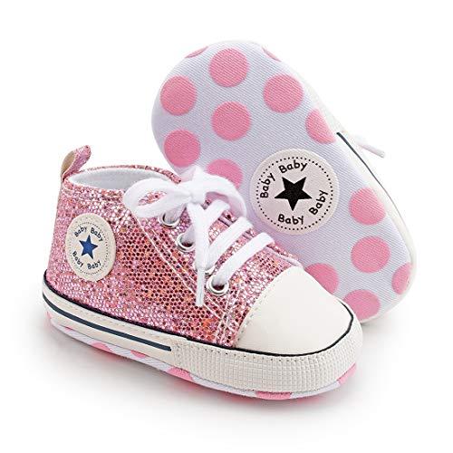 Unisex Baby Boys Girls Star Sneaker Soft Anti Slip Sole Newborn Infant First Walkers Cotton Shoes