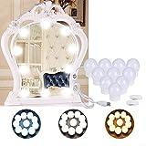 FuLin Hollywood-Stil, LED-Spiegelbeleuchtungs-Set mit dimmbarem Licht, 10 Leuchtmittel,...