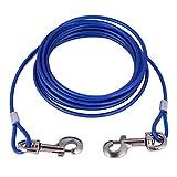 Smandy Correa para Perros, 16.4 pies Perro para Mascotas Cable para Atar Cable de Acero La...